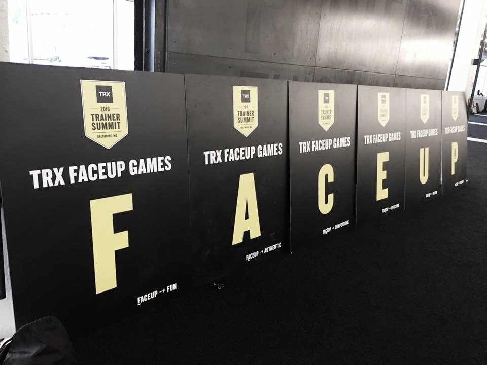 Face Up Games – TRX Trainer Summit – Baltimore 2016
